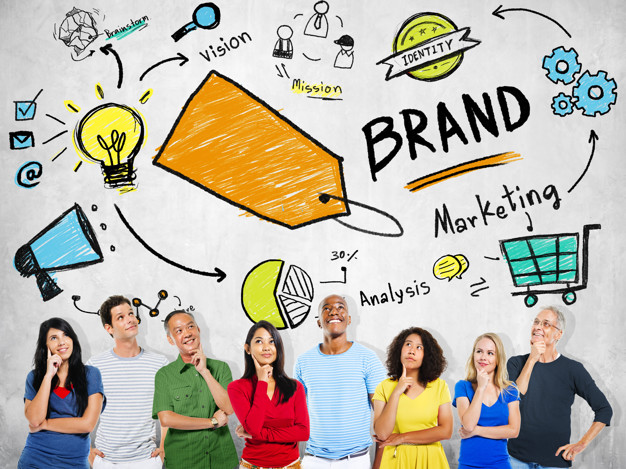 Diverse People Thinking Planning Marketing Brand Concept