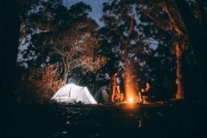 Kampovanje u prirodi logorska vatra